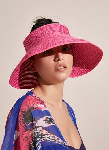 Morhipo Beach Fiyonk Detaylı Hasır Şapka Fuşya